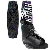 Hyperlite Tribute Wakeboard + Hyperlite Frequency Wakeboard Bindings