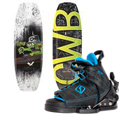 CWB Surge Wakeboard - Big Boys' + Tyke Wakeboard Bindings - Big Boys' 2015
