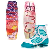 CWB Wild Child Wakeboard + Ember Wakeboard Bindings - Women's 2015