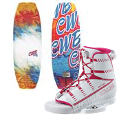 CWB Lotus Wakeboard + Optima Wakeboard Bindings - Women's 2015