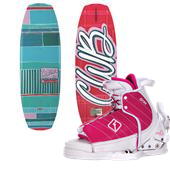 CWB Bella Wakeboard + Lulu Wakeboard Bindings - Big Girls' 2015