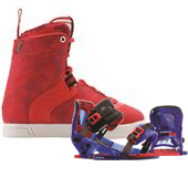 Hyperlite AJ Wakeboard Boots + The System Pro Wakeboard Bindings 2015
