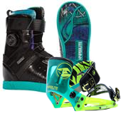 Hyperlite Brighton Wakeboard Boots - Women's + The System Wakeboard Bindings 2015