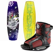 Slingshot Shredtown Wakeboard + Option Open Toe Wakeboard Bindings