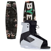 Byerly Wakeboards Jib Wakeboard + Byerly Wakeboards Standard Wakeboard Bindings