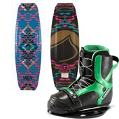Liquid Force Wing Grind Wakeboard+ Slingshot Jewel Wakeboard Bindings - Women's