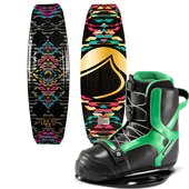 Liquid Force Wing Wakeboard + Slingshot Jewel Wakeboard Bindings - Women's