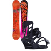 K2 Hit Machine Snowboard 2014 + K2 Company Snowboard Bindings 2014