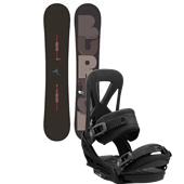Burton Super Hero Snowboard + Mission EST Bindings 2013