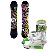 Rome Artifact Rocker Snowboard + Mob Bindings 2013