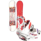 Burton Feelgood Smalls Snowboard + Stiletto Smalls Bindings - Youth - Girl's 2013