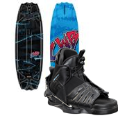 CWB Surge Wakeboard + Seven Bindings - Boy's 2013