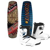 Ronix El Von Videl Schnook Wakeboard w/ Lights+ Preston Bindings