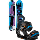 Burton Protest Snowboard + Mission Smalls EST Bindings - Boy's 2014