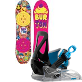 Burton Chicklet Snowboard + Grom Snowboard Bindings - Kid's 2014