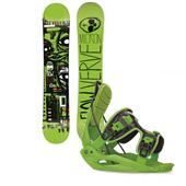 Flow Micron Verve Snowboard + Youth Micron Bindings - Kid's 2014