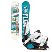 Flow Micron Mini Snowboard + Micron Bindings - Kid's 2014