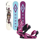 Arbor Poparazzi Snowboard + Ride LXH Bindings - Women's 2014