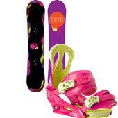 Burton Genie Snowboard + Burton Citizen Bindings - Women's 2014