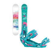 Salomon Lotus Snowboard + Nikita Ninja Bindings - Women's 2014