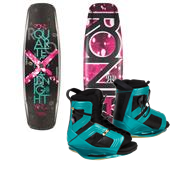 Ronix Quarter 'Til Midnight Wakeboard + Halo Bindings - Women's 2014