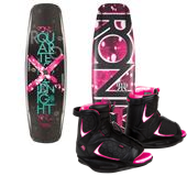 Ronix Quarter 'Til Midnight Wakeboard + Luxe Bindings - Women's 2014