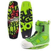 Slingshot Whip Wakeboard + RAD Wakeboard Bindings 2014