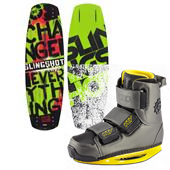 Slingshot Whip Wakeboard + KTV Wakeboard Bindings 2014