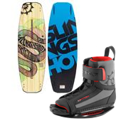 Slingshot Recoil Wakeboard + Option Open Toe Wakeboard Bindings 2014