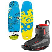 Slingshot Reflex Wakeboard + Option Open Toe Wakeboard Bindings 2014