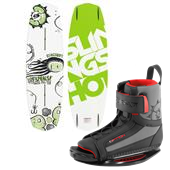Slingshot Response Wakeboard + Option Open Toe Wakeboard Bindings 2014