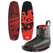 Slingshot Choice Wakeboard + Option Open Toe Wakeboard Bindings 2014