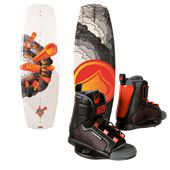Liquid Force Fury Wakeboard - Boy's + Fury Wakeboard Bindings - Boy's 2014