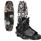 CWB Surge Park Wakeboard + Seven Bindings - Boys 2014