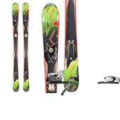 K2 A.M.P. Rictor Skis + Salomon Z12 Bindings 2013