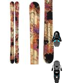 Line Skis Celebrity Skis - Women's + Salomon Z12 Ski Bindings 2014