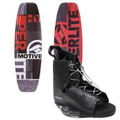 Hyperlite Motive Jr. Wakeboard + Frequency Jr. Bindings - Boy's 2014