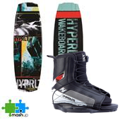 Hyperlite Franchise Jr. Wakeboard + Remix Jr. Bindings - Kid's 2014