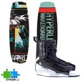 Hyperlite Franchise Jr. Wakeboard + Hyperlite Remix Bindings - Kid's 2014