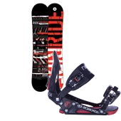 Ride Agenda Wide Snowboard + EX Bindings 2013