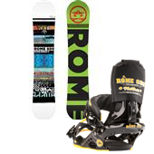 Rome Reverb Rocker Snowboard + Mob Boss Bindings 2013