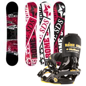 Rome Factory Rocker Snowboard + Mob Boss Bindings 2013