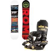 Rome Reverb Rocker Wide Snowboard + Mob Boss Bindings 2013