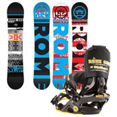Rome Reverb Snowboard + Mob Boss Bindings 2013