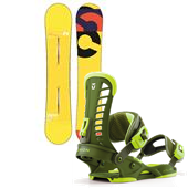 Burton Custom Flying V Snowboard + Union Atlas Bindings 2013