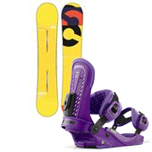 Burton Custom Flying V Snowboard + Union Force Bindings 2013