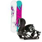 Ride Baretta Snowboard + K2 Cassette Bindings - Women's 2013