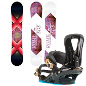 Rome Gold Snowboard + Rome Runway Bindings - Women's 2013