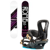 Rome Vinyl Rocker Snowboard + Runway Bindings - Women's 2013