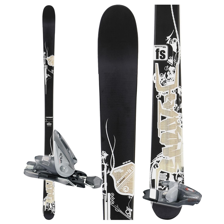 Rossignol Scratch Sprayer FS Skis + Rossignol Axium 100